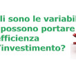 Le variabili dell'efficienza dell'investimento